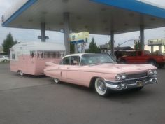 1959 pink Cadillac with matching trailer ~ Sandy, Utah • photo: Cindy Cloward