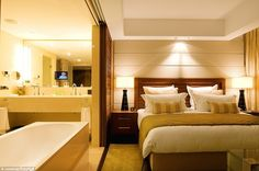 Each deluxe studio boasts a comfortable king-size bed and the centrepiece of the room - a ...