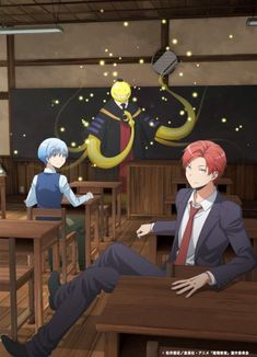 Ansatsu Kyoushitsu/Assassination Classroom, Key Visual 2 Assassination Classroom The Movie: 365 Days, Koro-sensei, Shiota Nagisa, Akabane Karma/// I just finished this today i cried Manga Anime, Anime Body, Karma Kun, Nagisa And Karma, Koro Sensei Quest, Cool Animes, Anime Quotes Tumblr, Anime Pokemon, Anime Plus