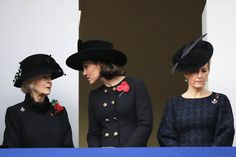 Kate Middleton Photos - Britain's Catherine, Duchess of Cambridge, (C), Britain's Katharine, Duchess of Kent (L) and Britain's Sophie, Countess of Wessex (R) attend the Remembrance Sunday ceremony at the Cenotaph on Whitehall in central London, on November 12, 2017.