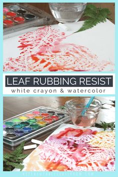 Leaf Rubbing Crayon Resist Leaf Art For Any Season