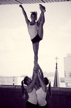 CHEER heel stretch from Kythoni's Cheerleading: Stunts board