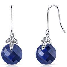 Peora.com - 14 kt White Gold 7.00 Carats Blue Sapphire Diamond Earrings E18770, $159.99 (http://www.peora.com/14-kt-white-gold-7-00-carats-blue-sapphire-diamond-earrings-e18770/)