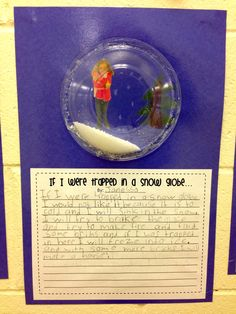 If I were stuck in a snow globe writing prompt