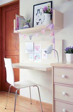 Para El Dormitorio Juvenil Dormitorios Pinterest Wall Decor - Escritorios-de-nias