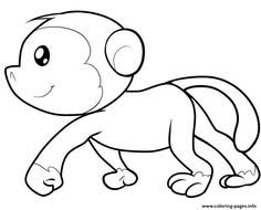 Print Cute Monkey Printable7935 Coloring Pages