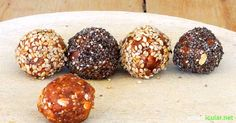 Healthy energy balls - energy kick for in between - Would you like an energy boost? These raw food balls made from your favorite ingredients provide yo - Healthy Drinks For Kids, Healthy Meal Prep, Healthy Desserts, Raw Food Recipes, Shrimp Recipes For Dinner, Healthy Dinner Recipes, Superfood, 21 Day Fix Snacks, Kids Meals