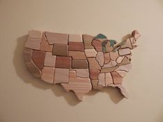 United States of America by FROGIntarsia on Etsy