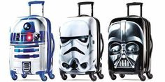 Your kids will feel out of this world toting around our new line of Star Wars travel products.May the force be with you with these cool Rolling Suitcases.