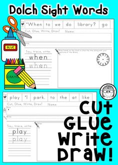Your students will have fun learning their sight words and developing fine motor skills with these ready-to-go printables. This bundle includes activities for all 220 Dolch Sight Words!