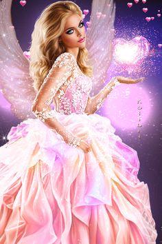 Fantasy Art Women, Beautiful Fantasy Art, Beautiful Fairies, Beautiful Gif, Fantasy Girl, Lovely Girl Image, Girls Image, Beautiful Girl Wallpaper, Cartoon Girl Images