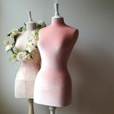 Items similar to Female Display Wedding Dress Mannequin Velvet Home Decor Dressform - Vintage Pink on Etsy Uk And Ie Destinations, Mannequin Display, Mannequin Art, Farrow And Ball Paint, Vintage Mannequin, Lace Corset, Pink Corset, Pink Velvet, Dress Form
