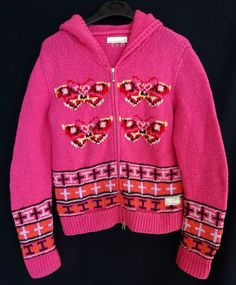Odd Molly 819 Lambswool Cardigan Hooded Jumper Pink Size 2 M Medium Butterfly Odd Molly, Online Price, Christmas Sweaters, Size 2, Folk, Butterfly, Medium, Best Deals, Beautiful