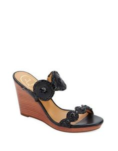 cb3fd761a5 Jack Rogers - Luccia Leather   Patent Leather Wedge Sandals