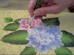 ONE STROKE TUTORIAL Secondo Video Tutorial di Patrizia De Lorenzo, insegnante OSCI level 2. Le Ortensie, rosa e celeste!