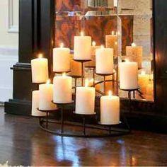 Candle Holder Black Floor Candelabra Mantel Centerpiece Stand Sturdy Fireplace   eBay