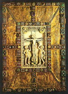 Codex Aureus at the abbey of Echternach Luxembourg, Bookbinding, Art History, Woodland, Alphabet, Scenery, Bible, Miniatures, Museum