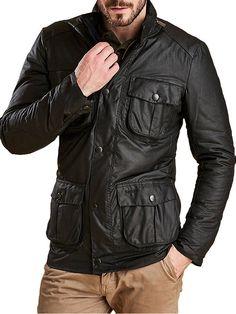 barbour corbridge waxed utility jacket
