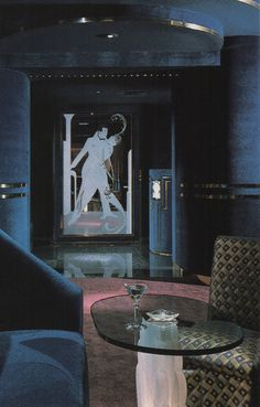 "palmandlaser: ""Boccaccio, Houston, Texas From Dining By Design "" 80s Interior Design, 1980s Interior, 80s Design, Exterior Design, Interior And Exterior, Interior Decorating, Design Ideas, Dark Interiors, Vintage Interiors"