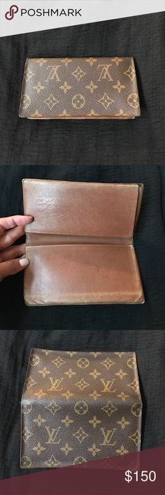 Vintage Louis Vuitton cheque holder.. Vintage Louis Vuitton cheque holder.  I've had this for many years.  I know it is authentic but really no way to prove it.  The inside scratched and scuffed but is still is fab! Louis Vuitton Other