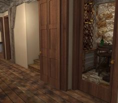 Wine cellar hallway. Prefer stone in wine cellar and hard wood in hallway. 9.5.13