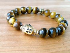 Tiger's Eye Buddha Bracelet Buddha Bracelet by LarisJewelryDesigns