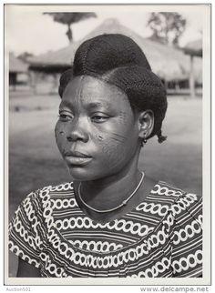 18096g CONGO BELGE - SCARIFICATION - Femme BANGO-BANGO - Photo de Presse - Etnographique - H. Goldstein - 24x18c - Delcampe.net