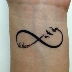 Be Brave, Always - Temporary Tattoo