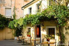 outdoor cafe seating corfu greece