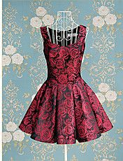 Vestido del oscilación TS-Vintage Rose Jacqua... – USD $ 42.69