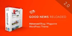 ThemeForest - Good News - Multi-Niche Blog / Magazine WordPress Theme  Free Download Good News, Wordpress Theme, Magazine, Blog, Free, Magazines, Blogging