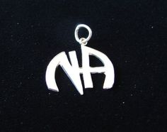 "Sterling Silver Narcotics Anonymous NA 11 16"" Logo Pendant Recovery Jewelry 