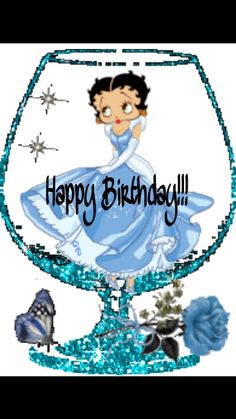 Betty Boop Graphics and GIF Animation for Faceboook Gifs, Imagenes Betty Boop, Betty Boop Birthday, Black Betty Boop, Boop Gif, Animated Cartoon Characters, Animated Cartoons, Glitter Gif, Blue Glitter