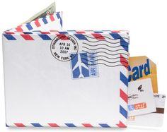 ¡Es una cartera de papel vinílico!