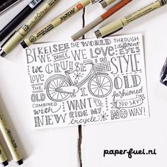 I want to ride my bicycle... in beautiful sunny weather, like u all, I think! ;-) #typography #illustration #lettering #paperfuel