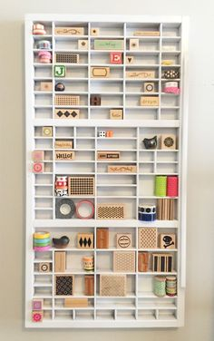 Anitque Typeface Drawer #upcycle