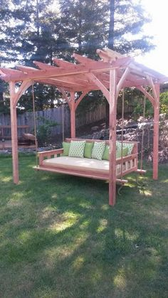 Swinging Day Bed Pergola Combo                                                                                                                                                      More