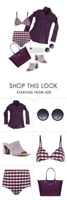 """""""Light Purple Suede Mule'"""" by dianefantasy ❤ liked on Polyvore featuring Dsquared2, Alice + Olivia, Nine West, Solid & Striped, Lipault, mules and polyvoreeditorial"""