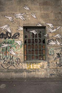 Street artist Know Hope's work in Tel Aviv.