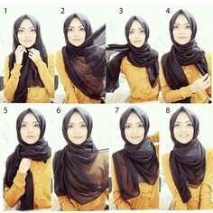 Another simple everyday Hijab tutorial by the beautiful @taslim_r inspired by @hijabiinspirations #HashtagModesty