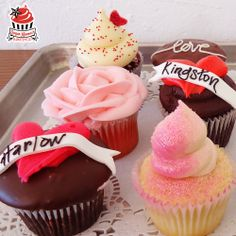Check out this beautiful assortment of Valentine's Day cupcakes available only at Sugar Mama's Bakeshop!