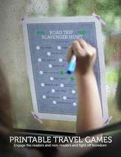 Two printable travel games: DRIVE bingo and a road trip scavenger hunt tough enough for tweens & teens! Road Trip Activities, Road Trip Games, Road Trip Bingo, Travel With Kids, Family Travel, Printables Organizational, Kids Crafts, Car Travel, Travel Tips