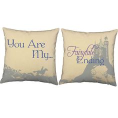 My Fairytale Ending Throw Pillows - Set of 2 Pillow Talk, Throw Pillow Sets, Fairytale Wedding Invitations, Fun Projects, Fairy Tales, Bed Pillows, Decorating Ideas, Magic, Inspired