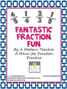 Fantastic Fraction Fun First, Second, Third  This 26-page packet provides a menu with activities to practice fraction skills.  Aligned with Common Core Standards, hands-on,and real-world activities!