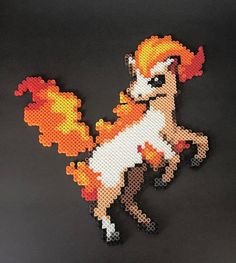 Ponyta is an equine Pokémon with yellow and reddish-orange flames forming its mane and tail. Shiny Ponyta however have blue flames instead.