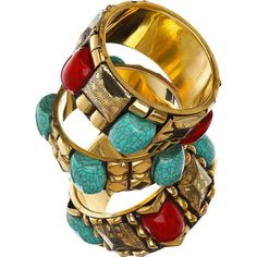 crackled chunky bangles
