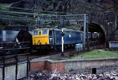 Back at the western portal of Woodhead Tunnel and an unusual scene on the Pennine Line, seeing two trains in action at the same time. British Rail, Electric Locomotive, Sheffield, Planes, Diesel, Nostalgia, Journey, Action, Google Search
