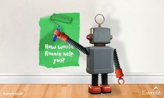Win £200 John Lewis vouchers with Everest Home Improvements' Ronnie the Robot! - tidy away today