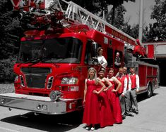 Love these fire department themed engagement photos by Photos By Brown. Such a great ideas for a #firefighter