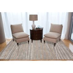 Hand-tufted Contemporary Geometric Grey Rug (9'6 x 13'6)